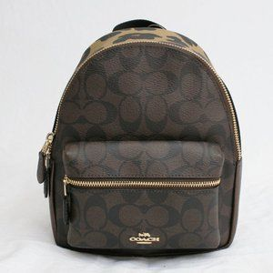 COACH 39034 Sig Leopard Charlie Mini Backpack